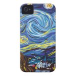 Noche estrellada de Van Gogh Case-Mate iPhone 4 Cárcasas