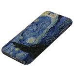 Noche estrellada de Van Gogh Funda De iPhone 6 Plus Tough
