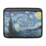 Noche estrellada de Van Gogh Funda Para Macbook Air