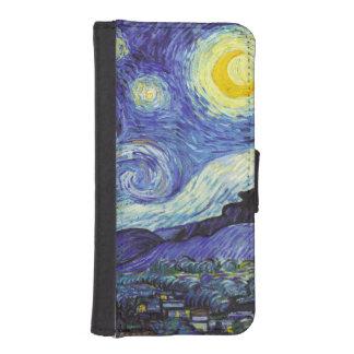 Noche estrellada de Van Gogh Cartera Para Teléfono