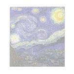 Noche estrellada de Van Gogh, impresionismo del Blocs De Notas