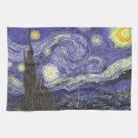 Noche estrellada de Van Gogh, impresionismo del Toallas