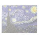 Noche estrellada de Van Gogh, impresionismo del po Bloc De Papel