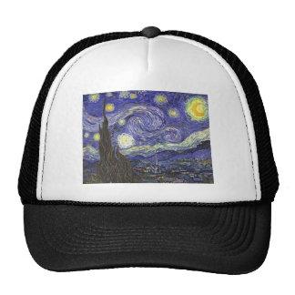 Noche estrellada de Van Gogh impresionismo del po Gorros