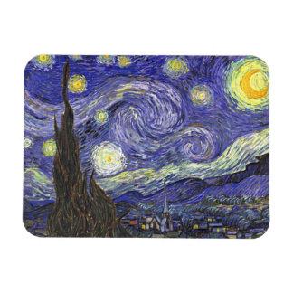 Noche estrellada de Van Gogh impresionismo del po Imán Rectangular