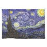 Noche estrellada de Van Gogh, impresionismo del po Manteles