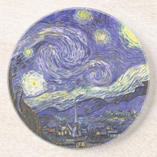 Noche estrellada de Van Gogh impresionismo del po Posavasos Para Bebidas