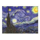 Noche estrellada de Van Gogh, impresionismo del po Tarjeta Postal