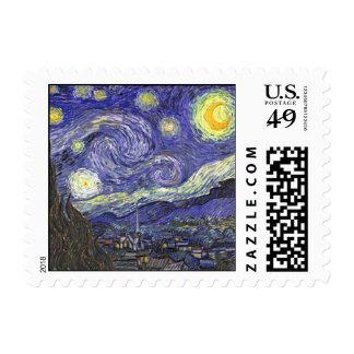 Noche estrellada de Van Gogh, impresionismo del Sellos