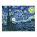 """Noche estrellada de Van Gogh Invitación 4.25"""" X 5.5"""""""