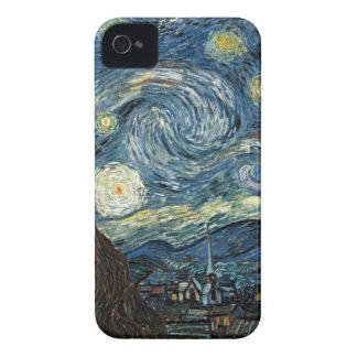 Noche estrellada de Van Gogh iPhone 4 Case-Mate Cárcasas
