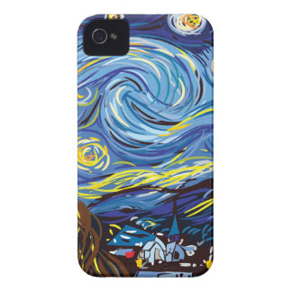 Noche estrellada de Van Gogh iPhone 4 Case-Mate Coberturas