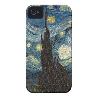 Noche estrellada de Van Gogh iPhone 4 Protectores