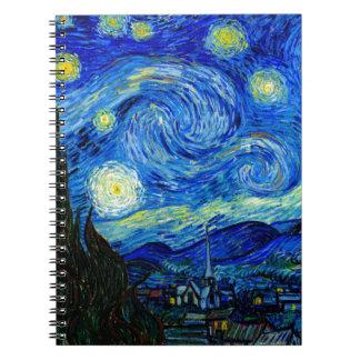 Noche estrellada de Van Gogh Libros De Apuntes Con Espiral