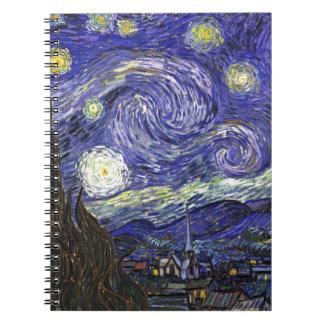 Noche estrellada de Van Gogh Libreta Espiral