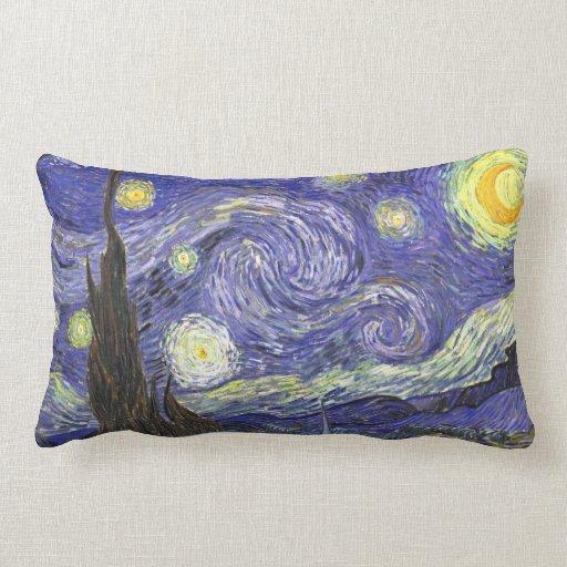 Noche estrellada de Van Gogh, paisaje de la bella Cojín