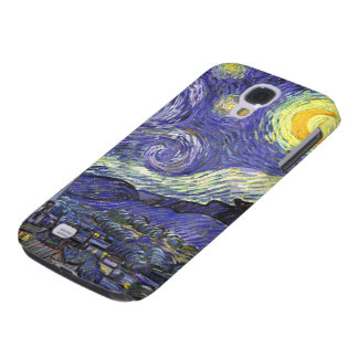 Noche estrellada de Van Gogh, paisaje de la bella Funda Para Galaxy S4