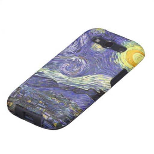 Noche estrellada de Van Gogh, paisaje de la bella Galaxy SIII Coberturas