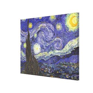 Noche estrellada de Van Gogh, paisaje de la bella Impresiones En Lona Estiradas