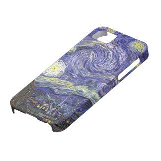 Noche estrellada de Van Gogh, paisaje de la bella iPhone 5 Fundas