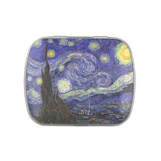 Noche estrellada de Van Gogh, paisaje de la bella Latas De Dulces