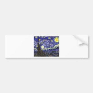 Noche estrellada de Van Gogh Pegatina Para Auto