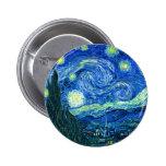 noche estrellada de Van Gogh Pin