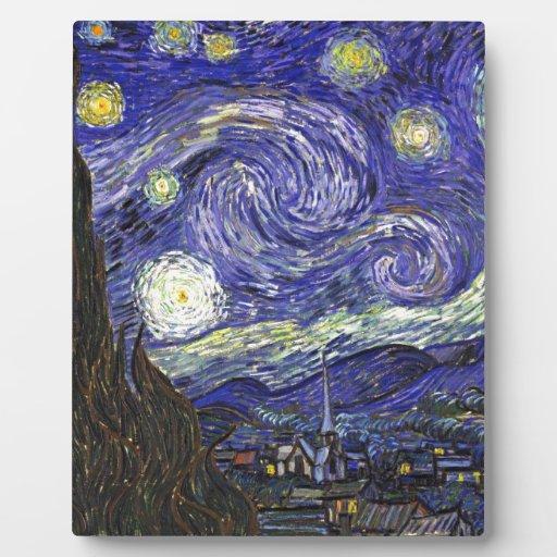 Noche estrellada de Van Gogh Placas