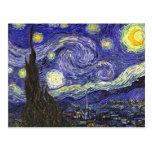 Noche estrellada de Van Gogh Postal
