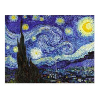 Noche estrellada de Van Gogh Postales
