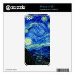Noche estrellada de Van Gogh Skin Para El iPhone 4
