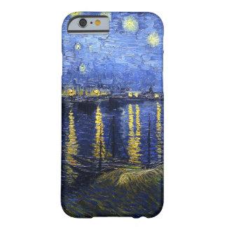 Noche estrellada de Van Gogh sobre el caso del Funda Para iPhone 6 Barely There