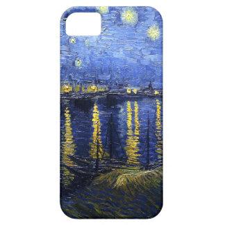 Noche estrellada de Van Gogh sobre el caso del iPh iPhone 5 Cárcasas