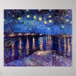 Noche estrellada de Van Gogh sobre el poster de Rh