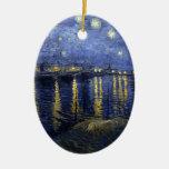 Noche estrellada de Van Gogh sobre el Rhone Adorno De Reyes