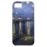 Noche estrellada de Van Gogh sobre el Rhone iPhone 5 Coberturas