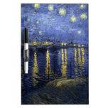 Noche estrellada de Van Gogh sobre el Rhone Pizarras Blancas