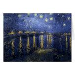 Noche estrellada de Van Gogh sobre el Rhone Tarjeta De Felicitación