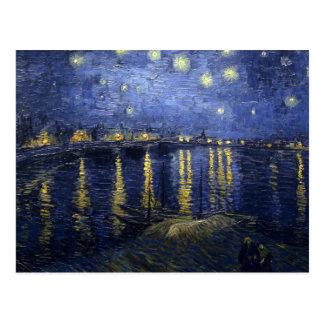 Noche estrellada de Van Gogh sobre el Rhone Tarjeta Postal