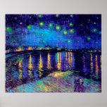 Noche estrellada de Van Gogh sobre la bella arte d Posters