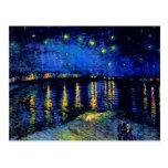 Noche estrellada de Van Gogh sobre la bella arte d Postales