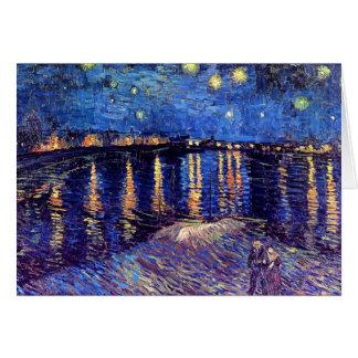 Noche estrellada de Van Gogh sobre la tarjeta de f