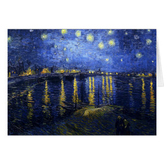 Noche estrellada de Van Gogh sobre la tarjeta de n