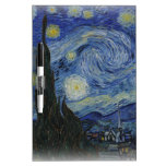 noche estrellada de Van Gogh Tablero Blanco