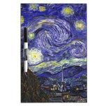 Noche estrellada de Van Gogh Tableros Blancos
