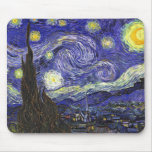 Noche estrellada de Van Gogh Tapetes De Ratones