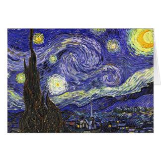 Noche estrellada de Van Gogh Tarjeton