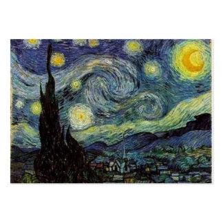 Noche estrellada de Van Gogh Tarjetas De Visita Grandes