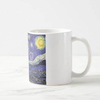 Noche estrellada de Van Gogh Taza Básica Blanca