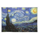 Noche estrellada de Vincent van Gogh 1889 Manteles Individuales